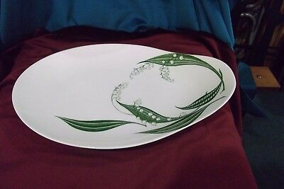 Clarice Cliff. Lily Of The Valley Porcelain Platter, Royal Staffordshire.