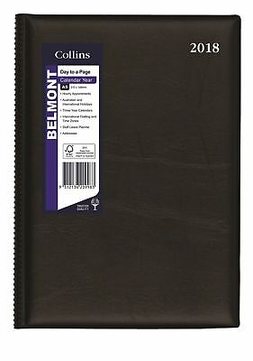 2018 Collins Belmont Desk Diary Diaries A5 Day to Page 187.V99-18 - Black