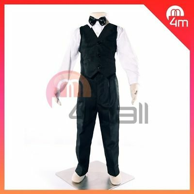 Boys Kids Baby Black Formal Suit Christening Page Dress Shirt Pants Vest Set Sz