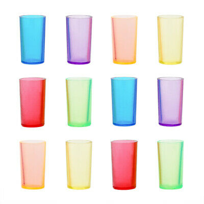 12PCS Colorful Plastic Cups Drinking Miniature Home Bar Party 1:12 Dollhouse New
