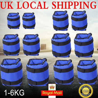 Leg Ankle Wrist Weights Running Fitness Strength Resistance Training Sports Blue