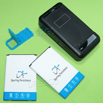 3420mAh Extended Slim Battery Wall Charger Bracket f LG K20 Plus MP260 Cellphone