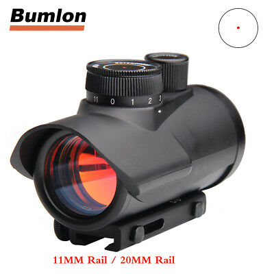 1 x 30mm Holographic Red Dot Sight Rifle Scope 11mm 20mm Rail Mount for Hunting