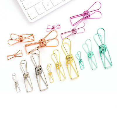 5 Pcs Creative  Cute Paper Clips Hollow Out Metal Binder Clips DIY Office Supply
