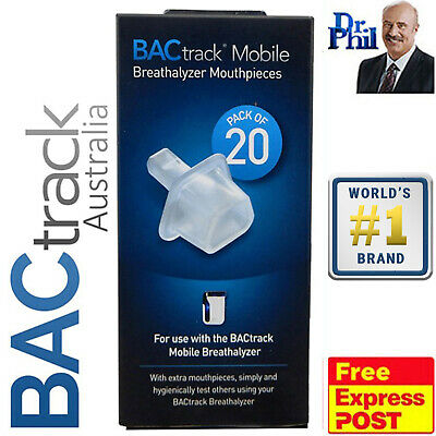 Breathalyser. Alcohol Breath Tester. BACtrack Mobile Pro 20 Mouthpieces. GENUINE