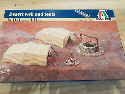 ITALERI Military Model 1/72 Accessories Desert Well And Tents Hobby 6148 T6148