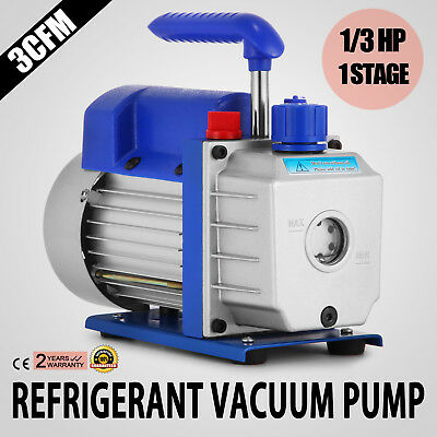 3CFM Stage 1/3HP Refrigerant Vacuum Pump Air Conditioning 85 L/min Rotary Vane