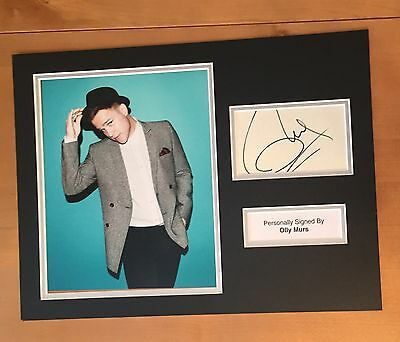 SIGNED OLLY MURS MUSIC PHOTO DISPLAY MOUNT 16x12 HAND SIGNED WITH COA