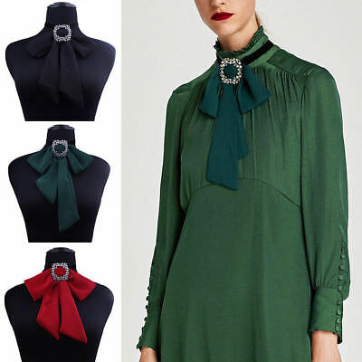 Women Bow Tie Chain Pendant Necklace Collar Blouse Choker Accessory Jewelry Gift