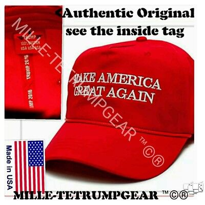 Donald Trump AUTHENTIC Make America Great Again rope hat OFFICIAL cap