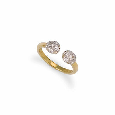 New Hallmarked Solid 9ct Gold CZ Torque Toe Ring