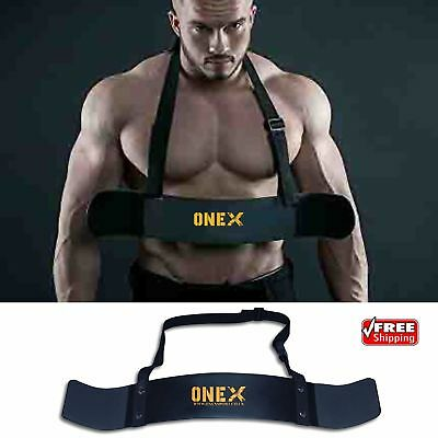 New Workout Weightlifting Arm Blaster Biceps Isolator Gym Support neck Support