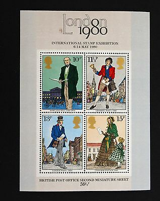 GB 1980 The London Stamp Exhibition Miniature Sheet MNH