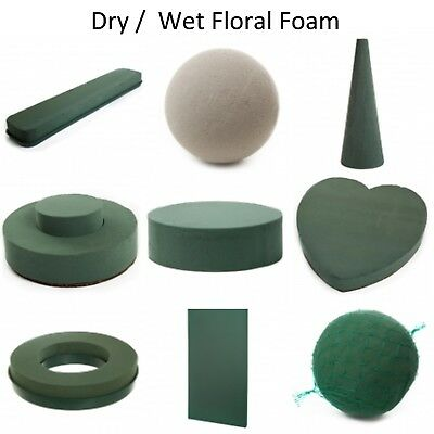 Wet / Dry Floral Foam Brick Block Many Shapes