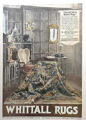 1919 Ad(G2)~Whittall Rugs, M.j. Whittall Associates, Worcester, Mass.