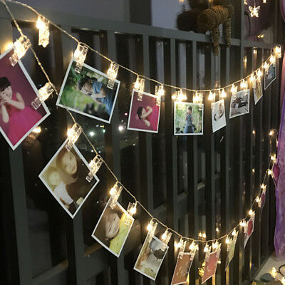 3M 20LED Hanging String Lights with Card Photo Clip for Bedroom Room Party Decor