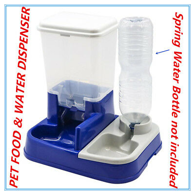 Automatic Pet Food Water Dispenser Feeder Set Dog Cat Self Feeding Food Bowl FW