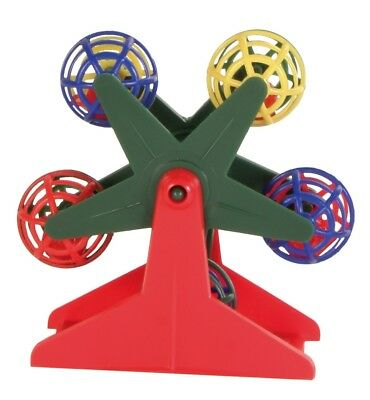 Ferris Wheels Bird Toy Moving Budgie Canary Bird Toy with rattling balls