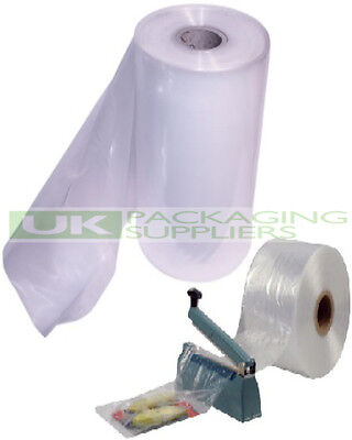 "1 LARGE ROLL OF 12"" CLEAR LAYFLAT TUBING 500gauge POLYTHENE PLASTIC 168 METRES"