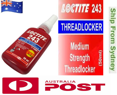 Loctite 243 50ml Threadlocker Instant Industrial Adhesive Super Glue AU Stock
