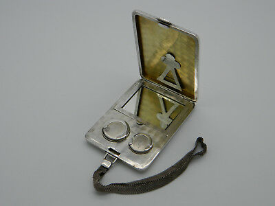 Ladies Solid Silver American Art Deco Sterling Combination Sovereign Case