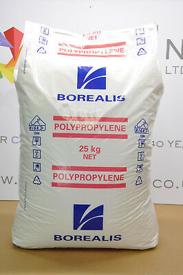 Borealis HE125MO Natural PP MFI:12 Injection Moulding Pellet Filler Poly QUALITY