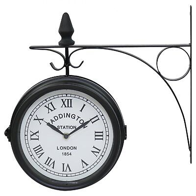 NEW! Double Sided Paddington Station Outdoor Garden Wall Clock