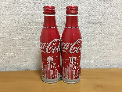 Coca Cola Coke Japan Aluminium bottle unopened ×2 2017 Tokyo limited new design