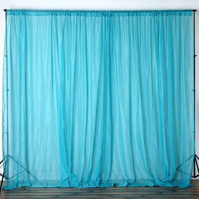Turquoise 10 x 10 ft Voile BACKDROP CURTAINS Wedding Home Party Decorations