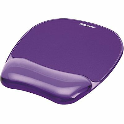 Fellowes Crystal Gel Mouse Mat with Wrist Rest - Purple