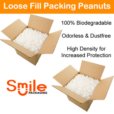 1 Cubic Ft Eco Flo Biodegradable Loose Fill Packaging Peanuts High Density