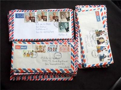 12359aj  GB c 1980s /1990s AIRMAIL FIRST DAY COVERS COLLECTION - UNUSUAL - VIEW?