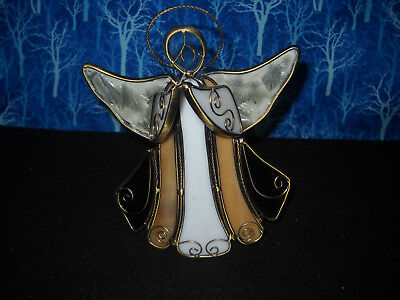 Vintage Stained Glass Votive Candle Holder, Very Well Made
