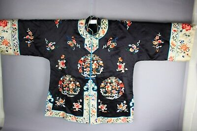 20th C. Hand Embroidered Chinese Robe