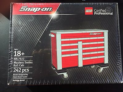 Snap On Tools Lego Tool Box Certified Professional Set 242 Pieces Super Rare