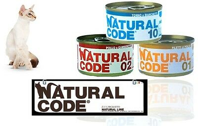 natural code scatolette per gatto 85 gr mix gusti 230 pz