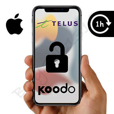 TELUS OR KOODO - APPLE iPHONE UNLOCK - ANY MODEL - 1 HOUR OR LESS
