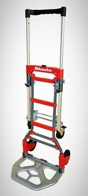 Milwaukee Hand Truck Convertible Fold Up Nose Plate 2-in-1 Non Marking Wheels