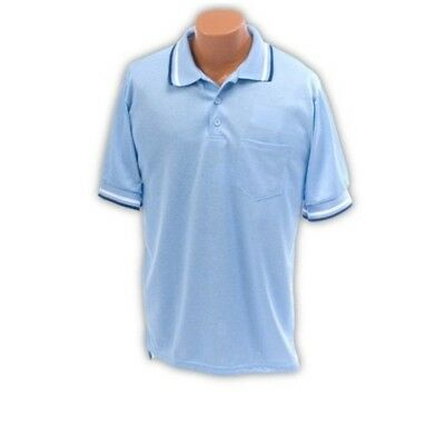 XXL Umpire Shirt in Light Blue Polyester-Cotton Blend. Athletic Connection