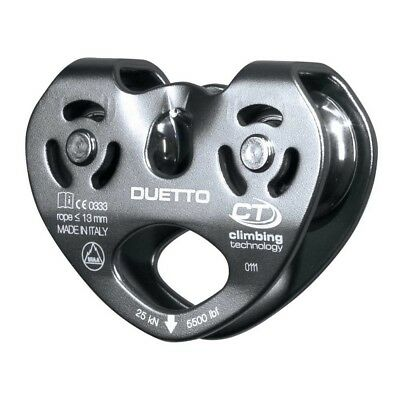 Climbing Technology Climbing pulley. Duetto grey grey. Brand New