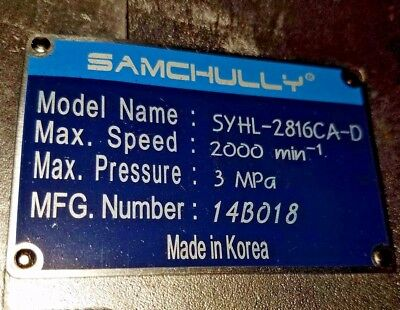 Actuator as Compared to Samchully® PN# SYHL-2816CA-D / Doosan® PN# R75516A