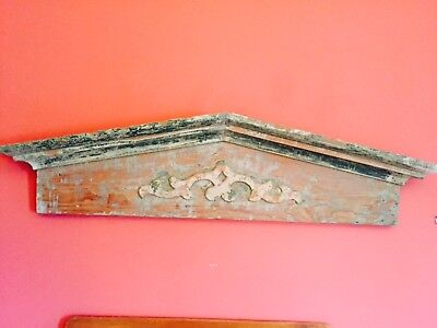 Vintage Architectural Salvage Pediment Header