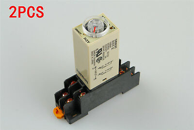 12V DC 2 sets H3Y-2 DPDT Power Delay Timer Time Relay 10sec 10s With Base