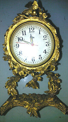18th c Antique French Gilt Bronze Clock Electric collectible superb centrepiece