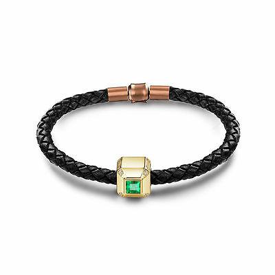 18ct Yellow Gold Stunning Natural Emerald and Diamond Bracelet GBP 4900