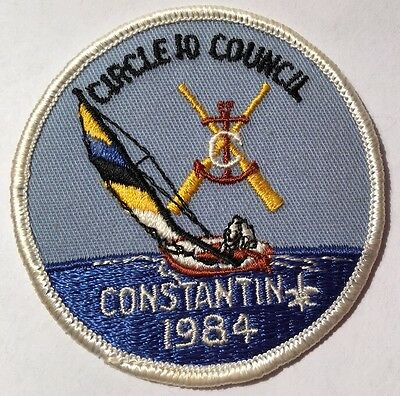 BSA Circle 10 Council 1984 Constantin Boy Scouts Patch Badge Camper Camp