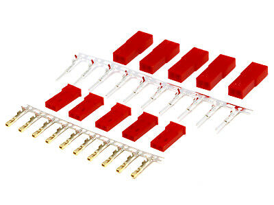 50 Paar JST BEC 2Pin Stecker Buchse Male Female Lipo Akku Krimpen Lose Crimp Set