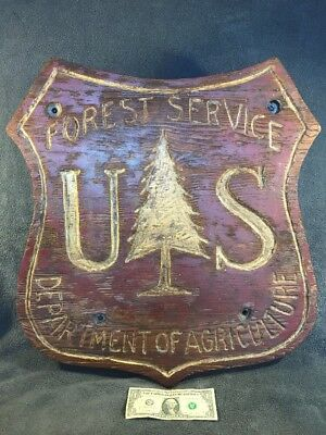 """US Forest Service Sign, 24"""" X 24"""" X 2"""" From Mount Saint Helens Irruption USFS"""