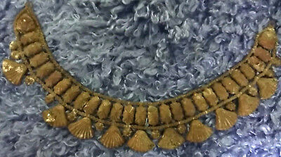 16c Ancient antique necklace engrave gilded jewelry handmade Islamic ottoman