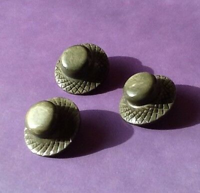 Large Vintage Buttons- Hat Shaped- Unusual